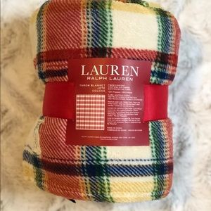 Lauren Ralph Lauren RL Plaid Fleece Blanket
